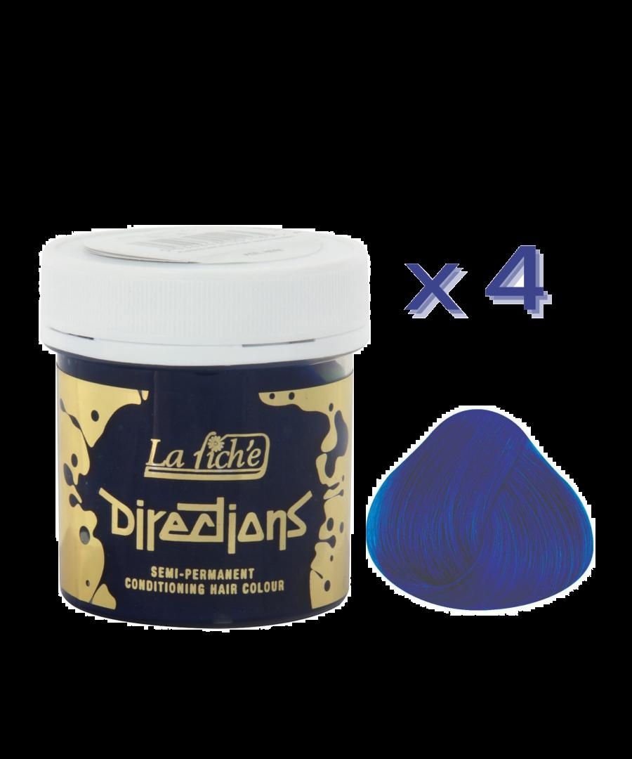 Image for 4 x La Riche Directions Semi-Permanent Hair Color 88ml Tubs - ATLANTIC BLUE