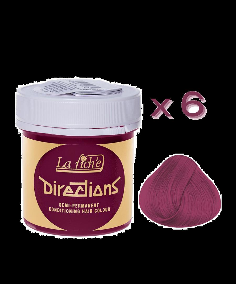 Image for 6 x La Riche Directions Semi-Permanent Hair Color 88ml Tubs - CERISE