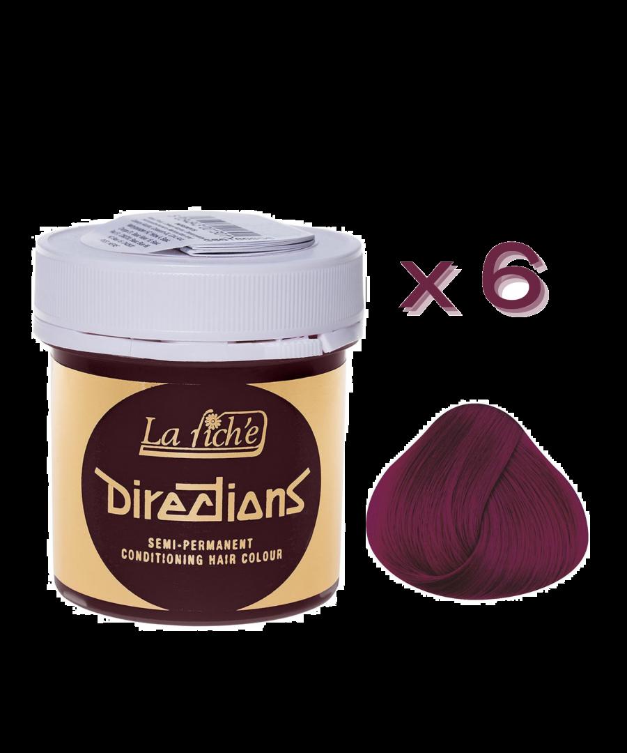 Image for 6 x La Riche Directions Semi-Permanent Hair Color 88ml Tubs - DARK TULIP