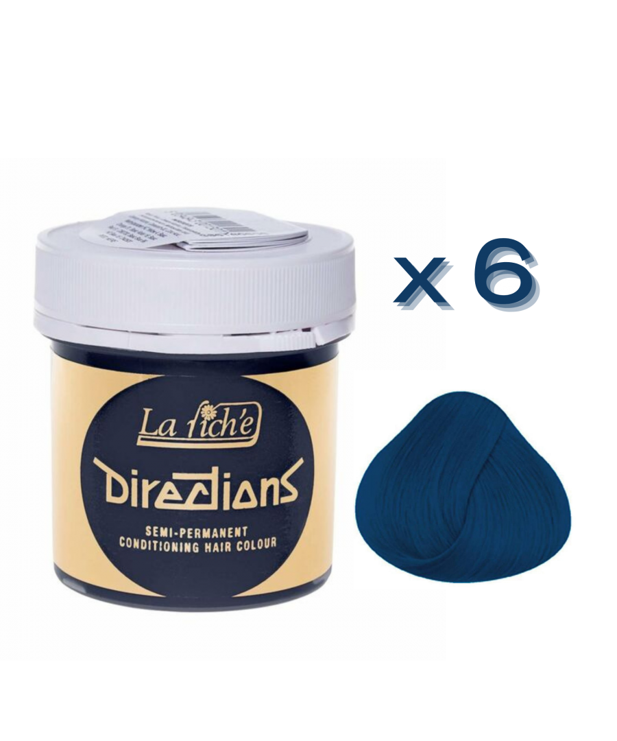 Image for 6 x La Riche Directions Semi-Permanent Hair Color 88ml Tubs - DENIM BLUE