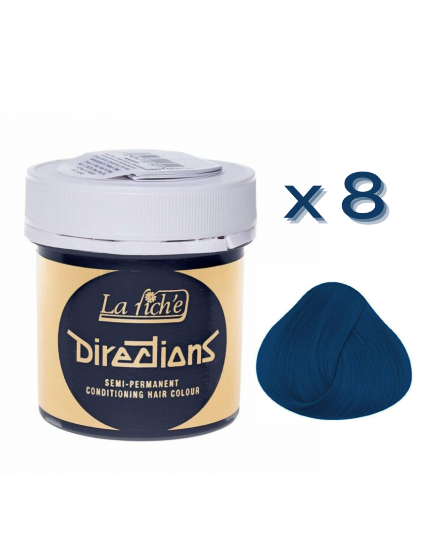 Image for 8 x La Riche Directions Semi-Permanent Hair Color 88ml Tubs - DENIM BLUE