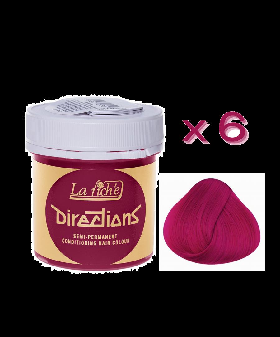 Image for 6 x La Riche Directions Semi-Permanent Hair Color 88ml Tubs - FLAMINGO PINK