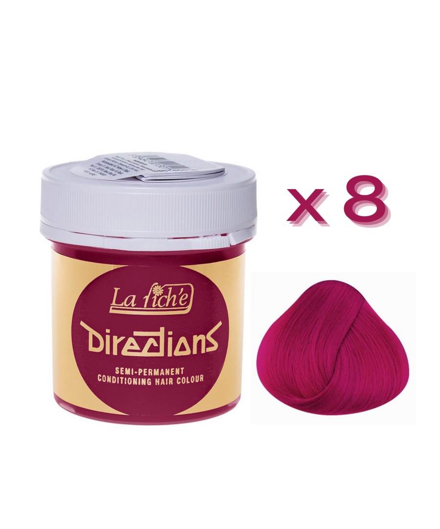 Image for 8 x La Riche Directions Semi-Permanent Hair Color 88ml Tubs - FLAMINGO PINK