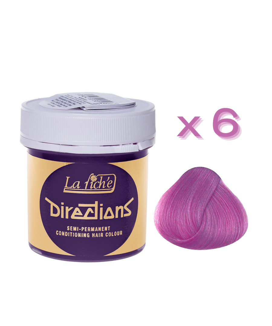 Image for 6 x La Riche Directions Semi-Permanent Hair Color 88ml Tubs - LAVENDER