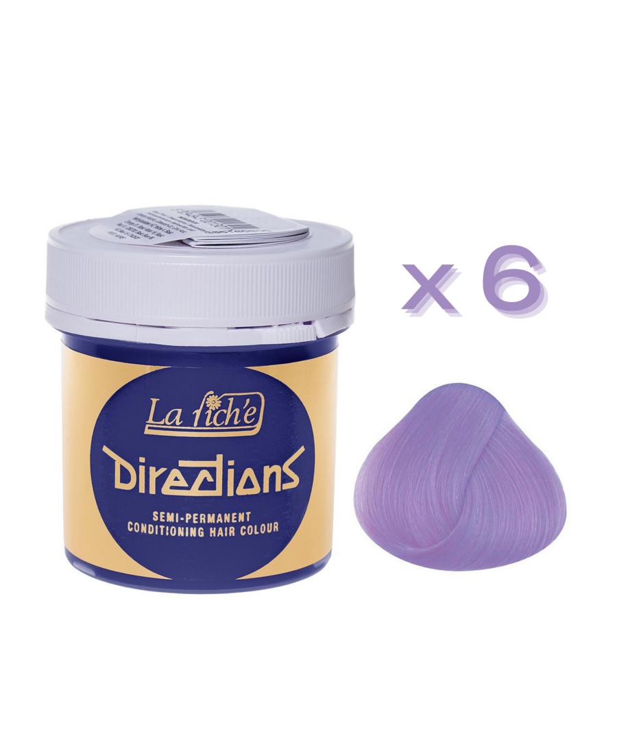 Image for 6 x La Riche Directions Semi-Permanent Hair Color 88ml Tubs - LILAC