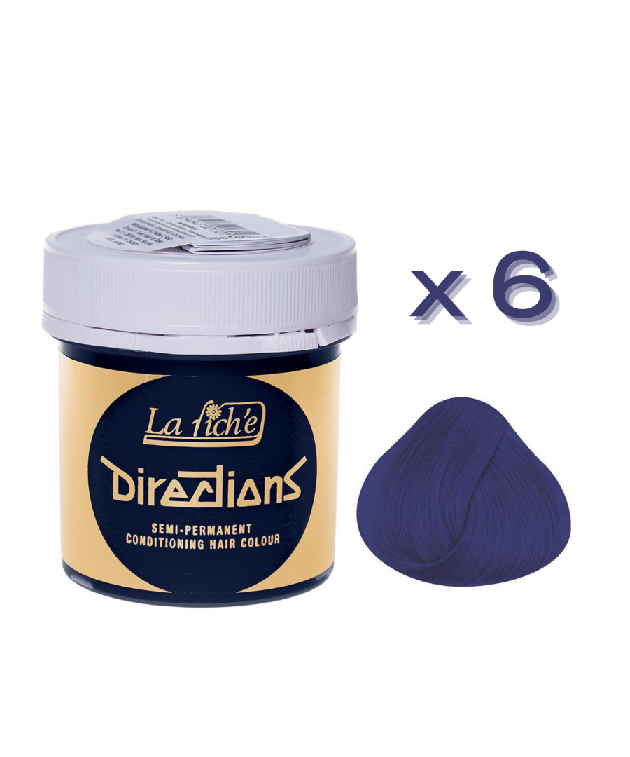 Image for 6 x La Riche Directions Semi-Permanent Hair Color 88ml Tubs - MIDNIGHT BLUE
