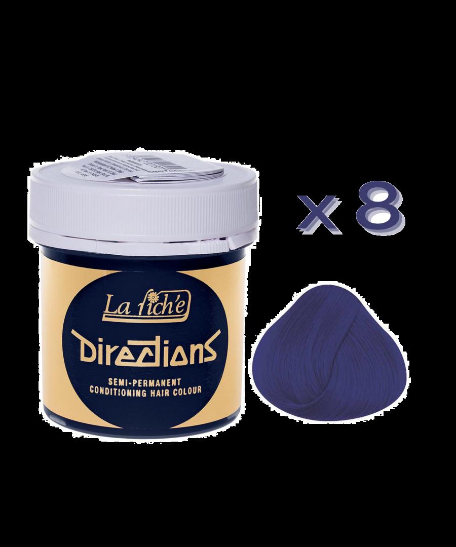 Image for 8 x La Riche Directions Semi-Permanent Hair Color 88ml Tubs - NEON BLUE