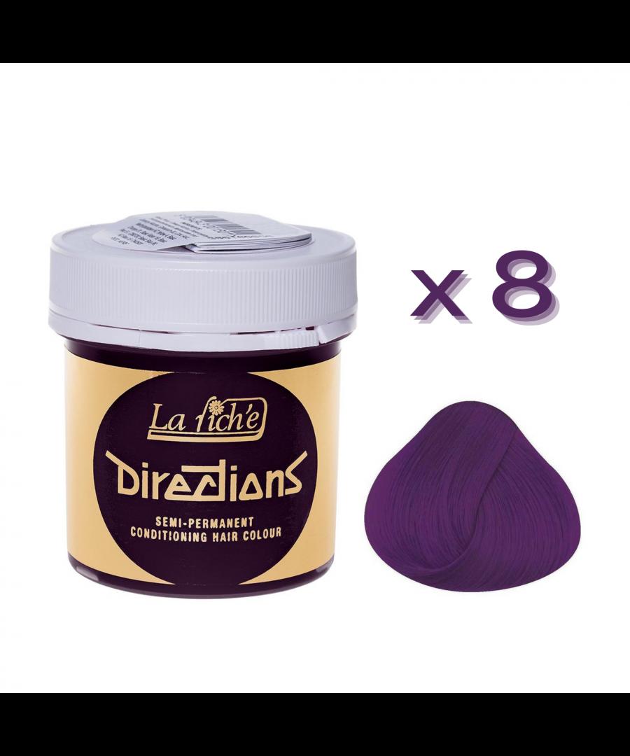 Image for 8 x La Riche Directions Semi-Permanent Hair Color 88ml Tubs - PLUM