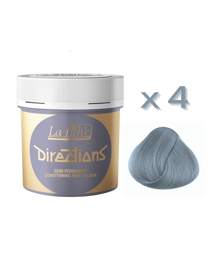 Image for 4 x La Riche Directions Semi-Permanent Hair Color 88ml Tubs - SILVER