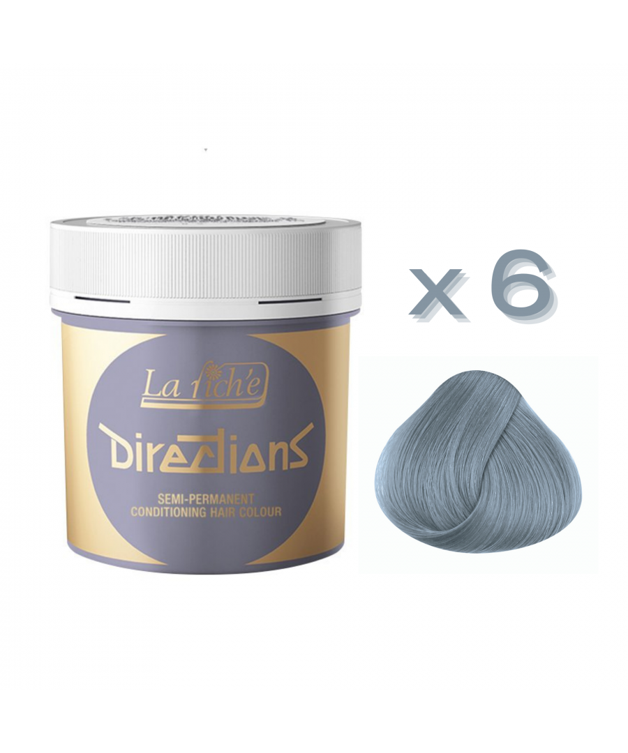 Image for 6 x La Riche Directions Semi-Permanent Hair Color 88ml Tubs - SILVER