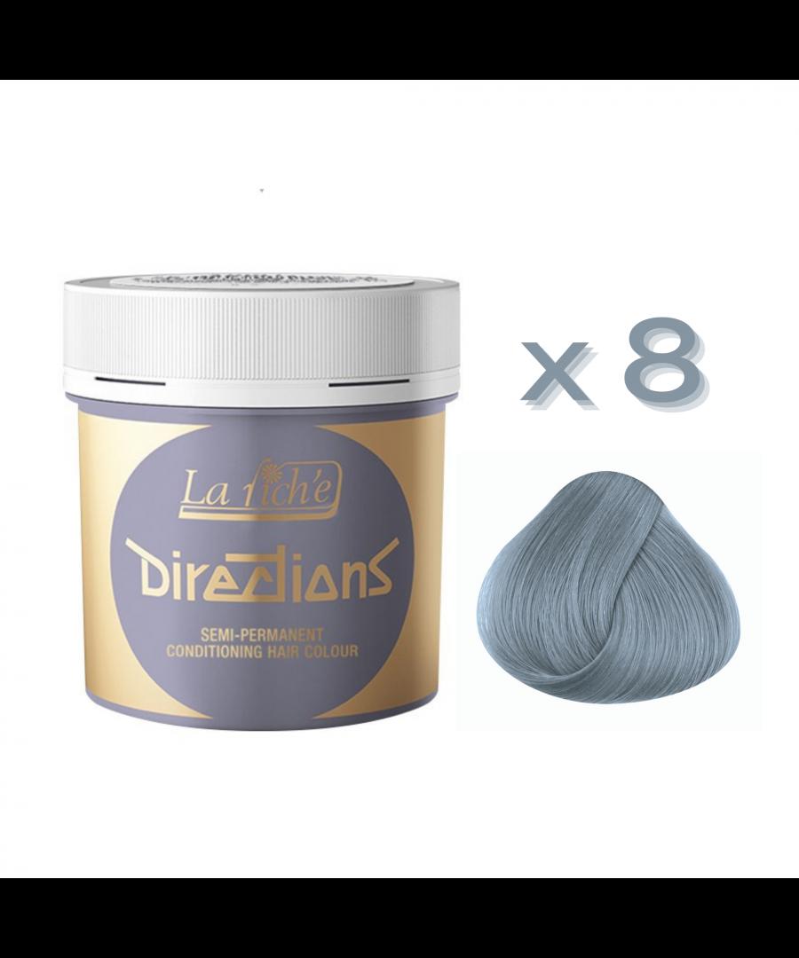 Image for 8 x La Riche Directions Semi-Permanent Hair Color 88ml Tubs - SILVER
