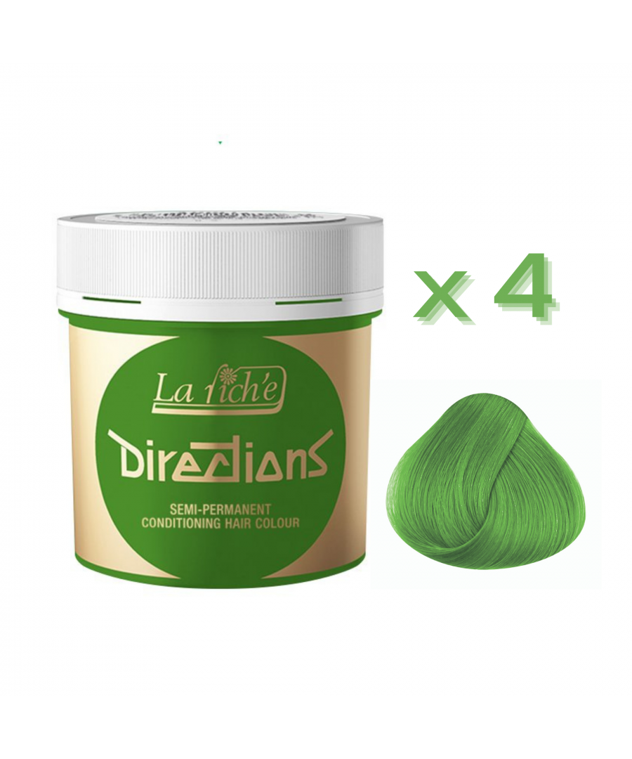 Image for 4 x La Riche Directions Semi-Permanent Hair Color 88ml Tubs - SPRING GREEN
