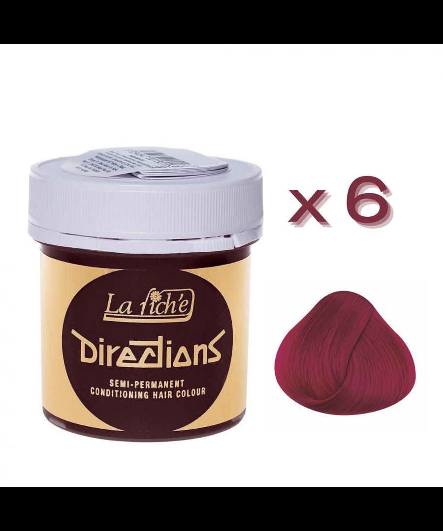 Image for 6 x La Riche Directions Semi-Permanent Hair Color 88ml Tubs - TULIP