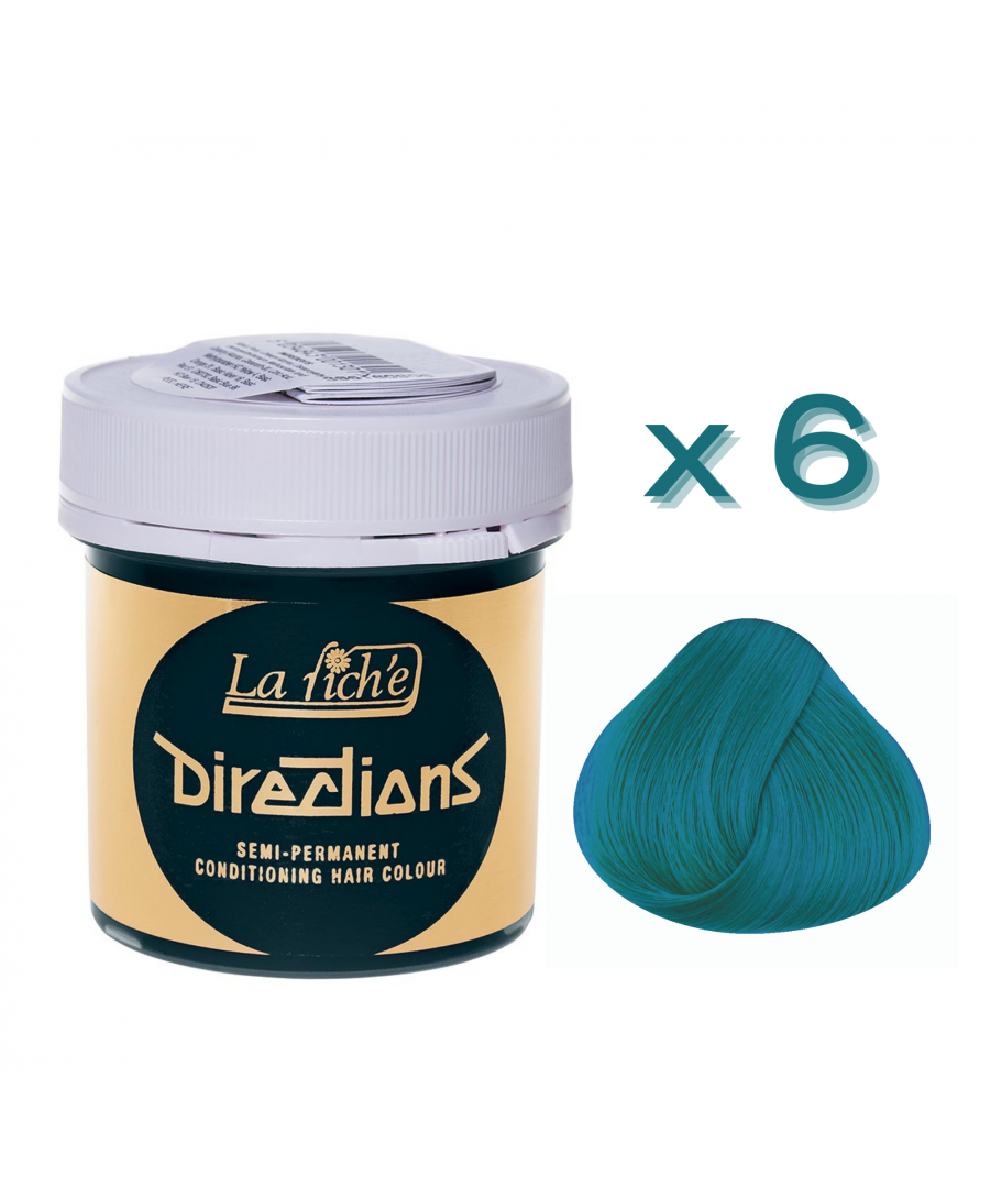 Image for 6 x La Riche Directions Semi-Permanent Hair Color 88ml Tubs - TURQUOISE