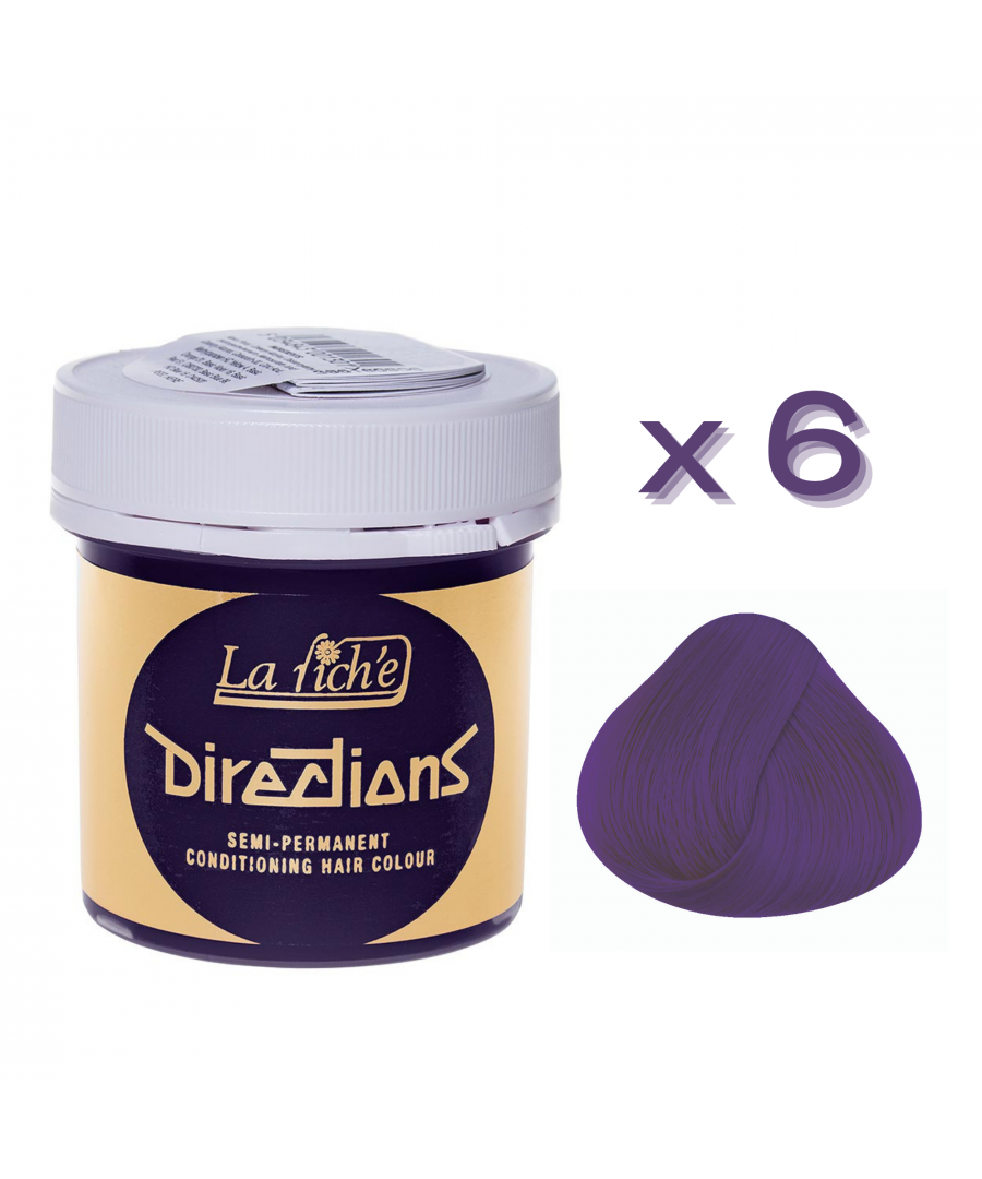 Image for 6 x La Riche Directions Semi-Permanent Hair Color 88ml Tubs - VIOLET