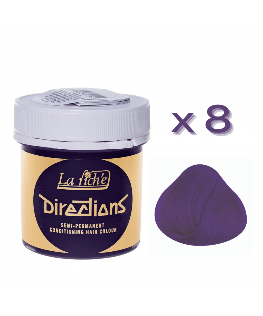 Image for 8 x La Riche Directions Semi-Permanent Hair Color 88ml Tubs - VIOLET