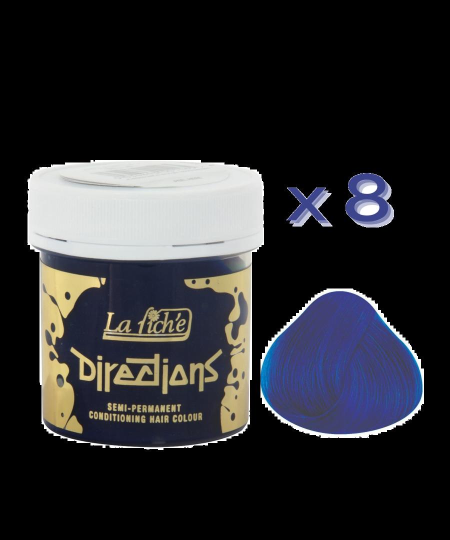 Image for 8 x La Riche Directions Semi-Permanent Hair Color 88ml Tubs - ATLANTIC BLUE