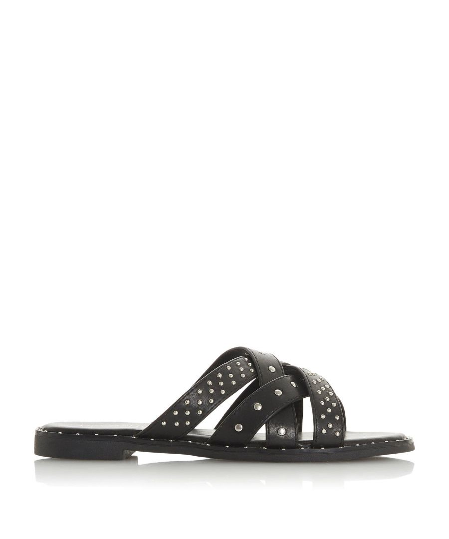 Image for Head Over Heels by Dune Ladies LUCCA Studded Cross Strap Flat Sandals