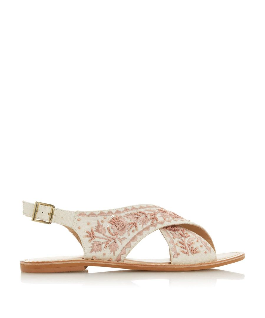 Image for Bertie Ladies LUCHIA Embroidered Cross Over Sandals