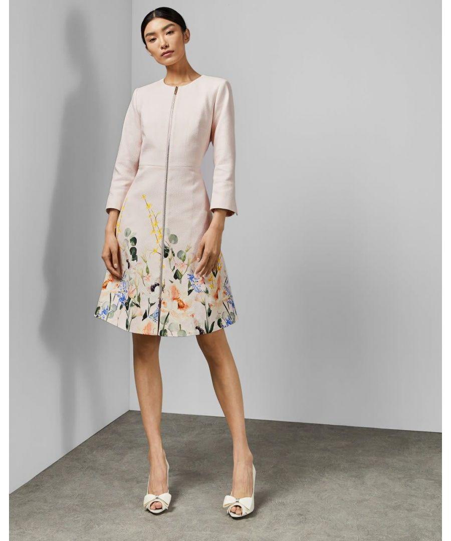 Image for Ted Baker Luluuu Elegant Textured Dress Coat, Nude Pink