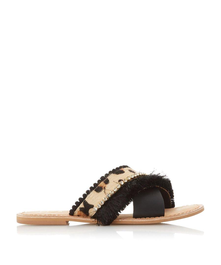Image for Dune Ladies LUMOS Fringe Detail Slider Sandals