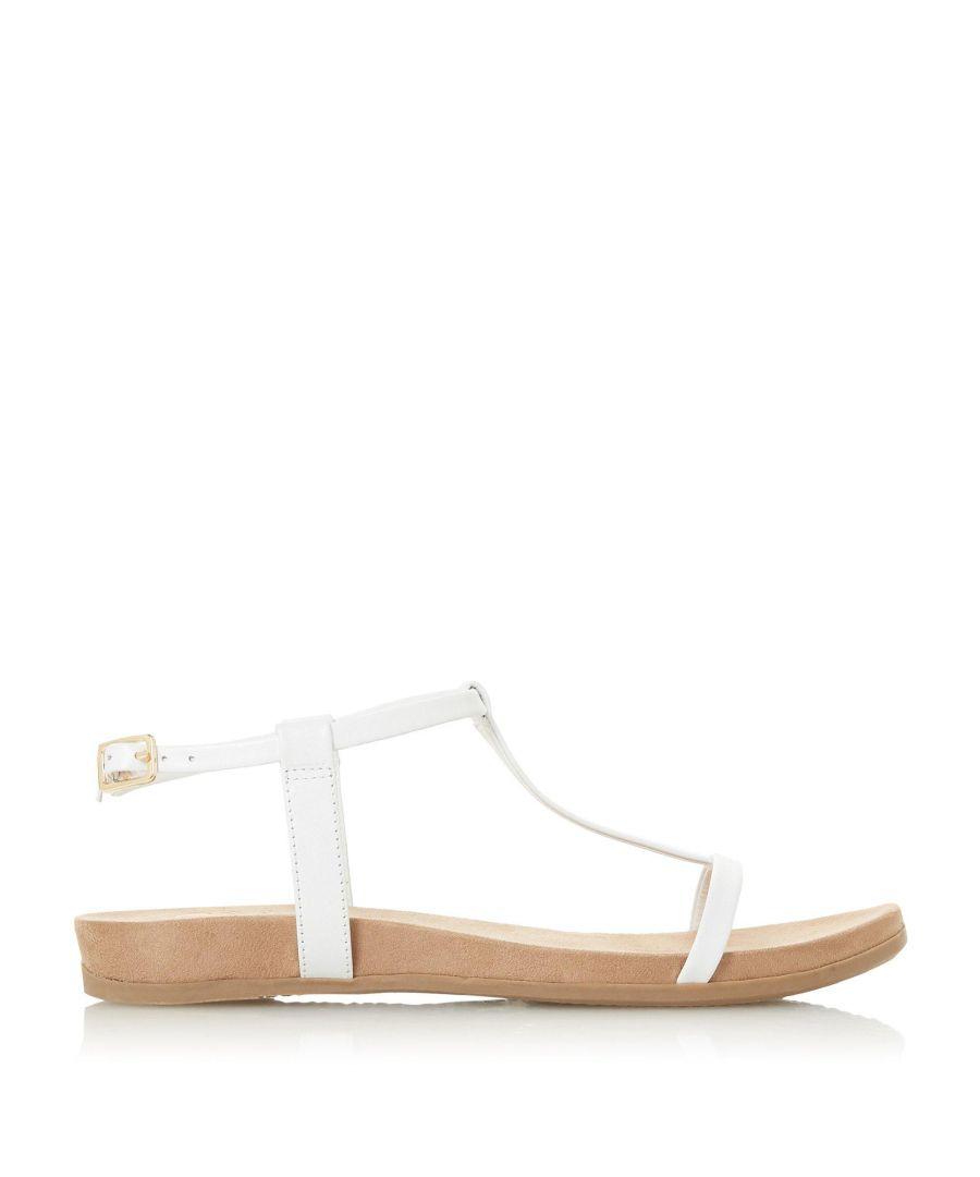 Image for Dune Ladies LUNI Comfort Footbed T-Bar Flat Sandals