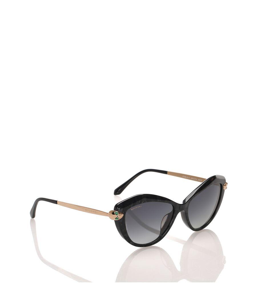 Image for Vintage Bvlgari Cat Eye Tinted Sunglasses Black