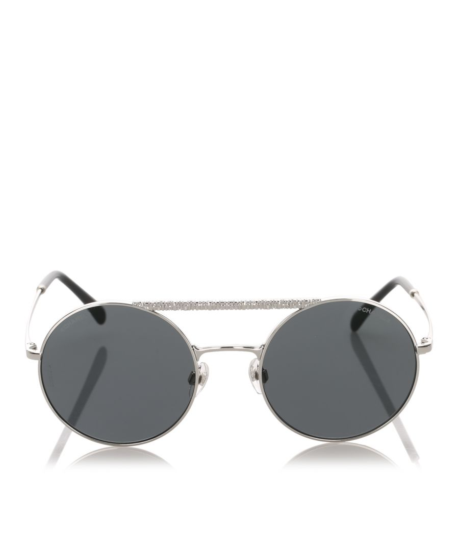 Image for Chanel Round Mirror Sunglasses Blue