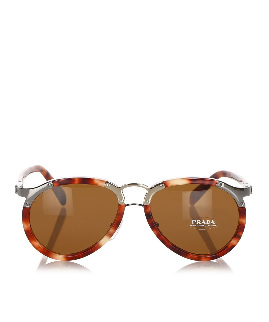 Image for Prada Aviator Tinted Sunglasses Brown