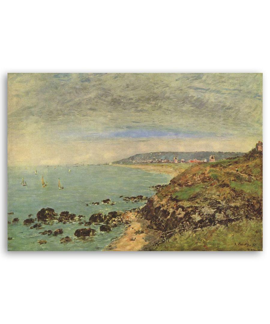 Image for Canvas Print - La Côte Atlantique À Bénerville - Eugène Boudin Cm. 50x80