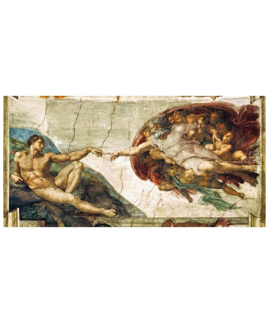 Image for Canvas Print - The Creation Of Adam - Michelangelo Buonarroti Cm. 50x100