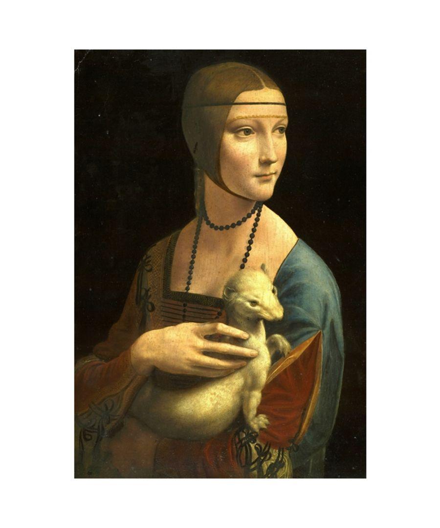 Image for Canvas Print - Lady With An Ermine - Leonardo Da Vinci Cm. 60x80