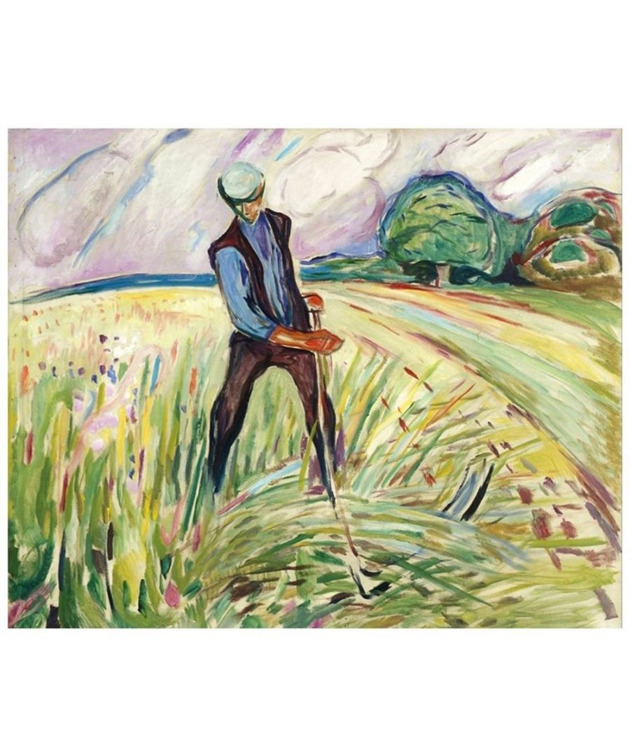 Image for Canvas Print - The Haymaker - Edvard Munch Cm. 50x60