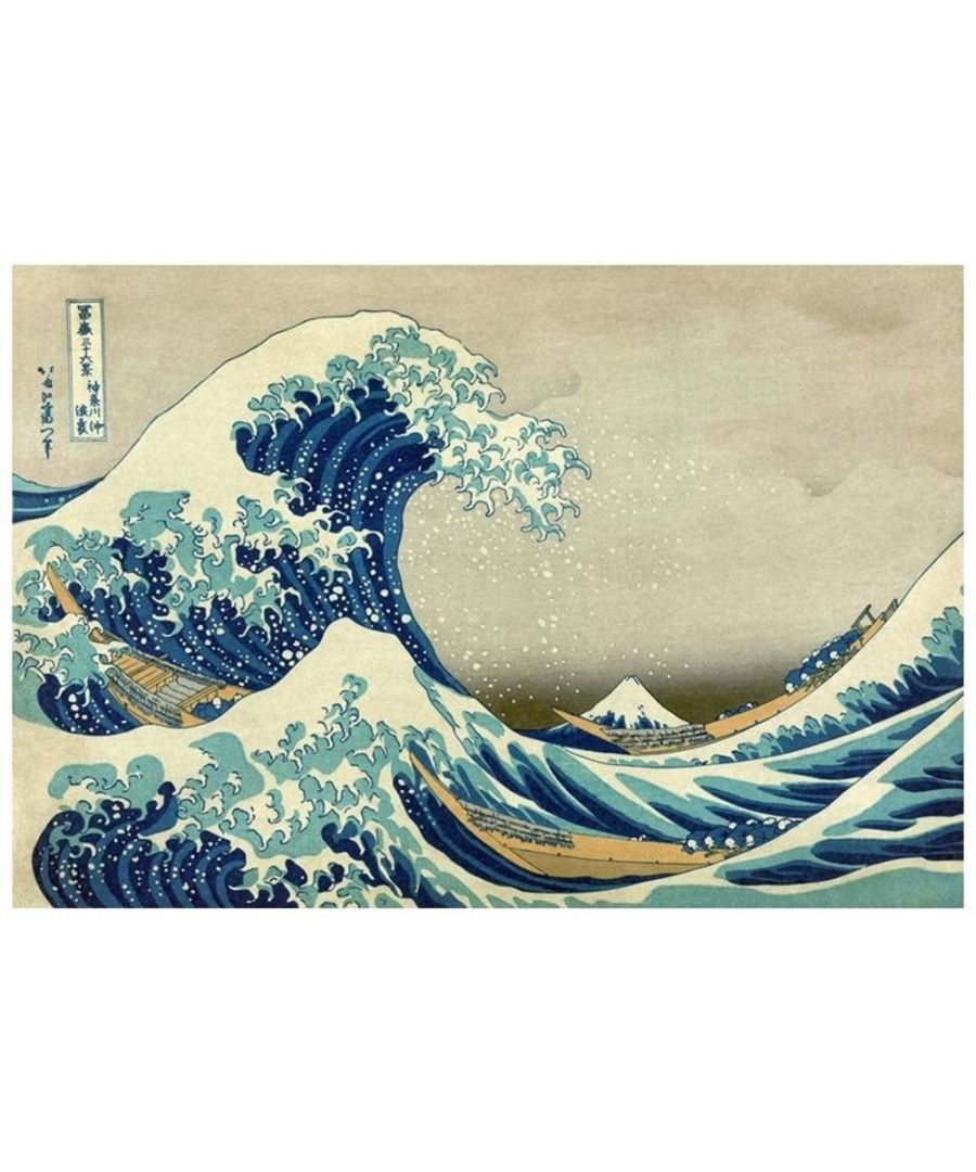 Image for Canvas Print - The Great Wave Of Kanagawa - Katsushika Hokusai Cm. 60x90