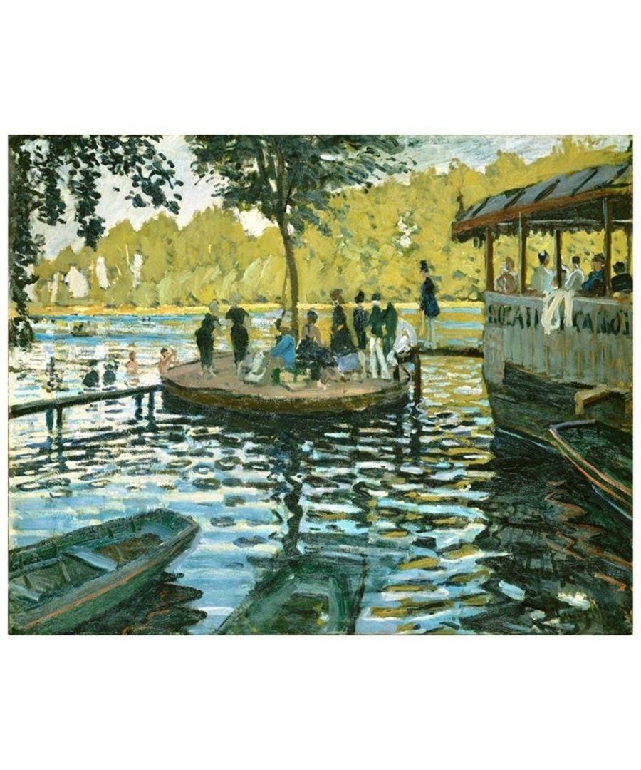 Image for Canvas Print - La Grenouillère - Claude Monet Cm. 80x100