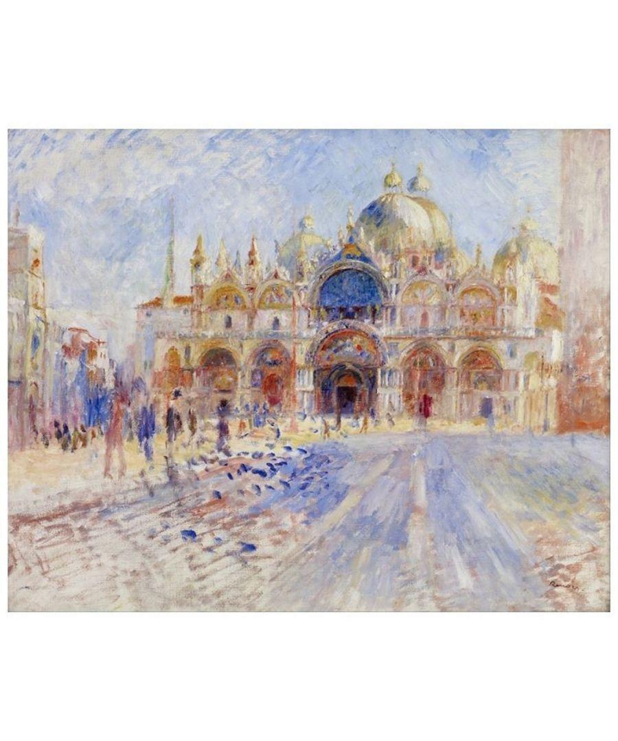 Image for Canvas Print - The Piazza San Marco, Venice - Pierre Auguste Renoir Cm. 60x75