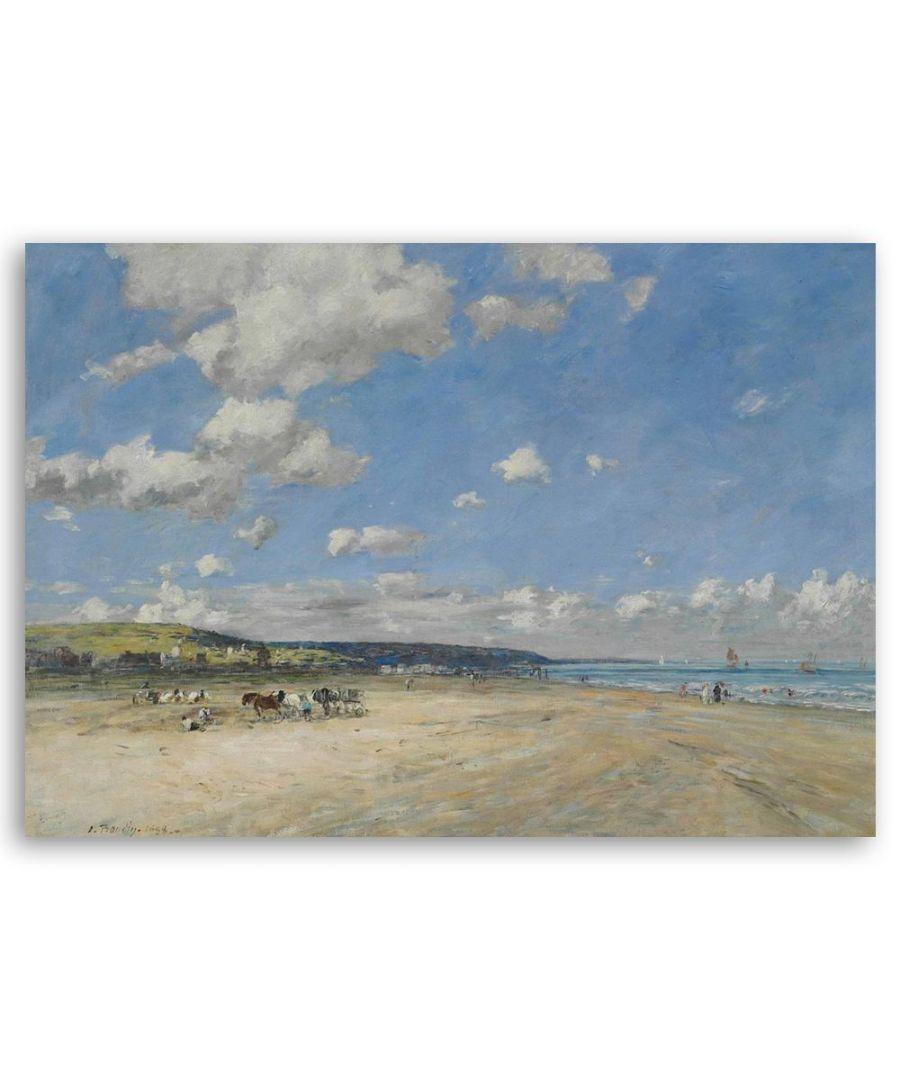 Image for Canvas Print - La Plage De Torugeville - Eugène Boudin Cm. 50x80
