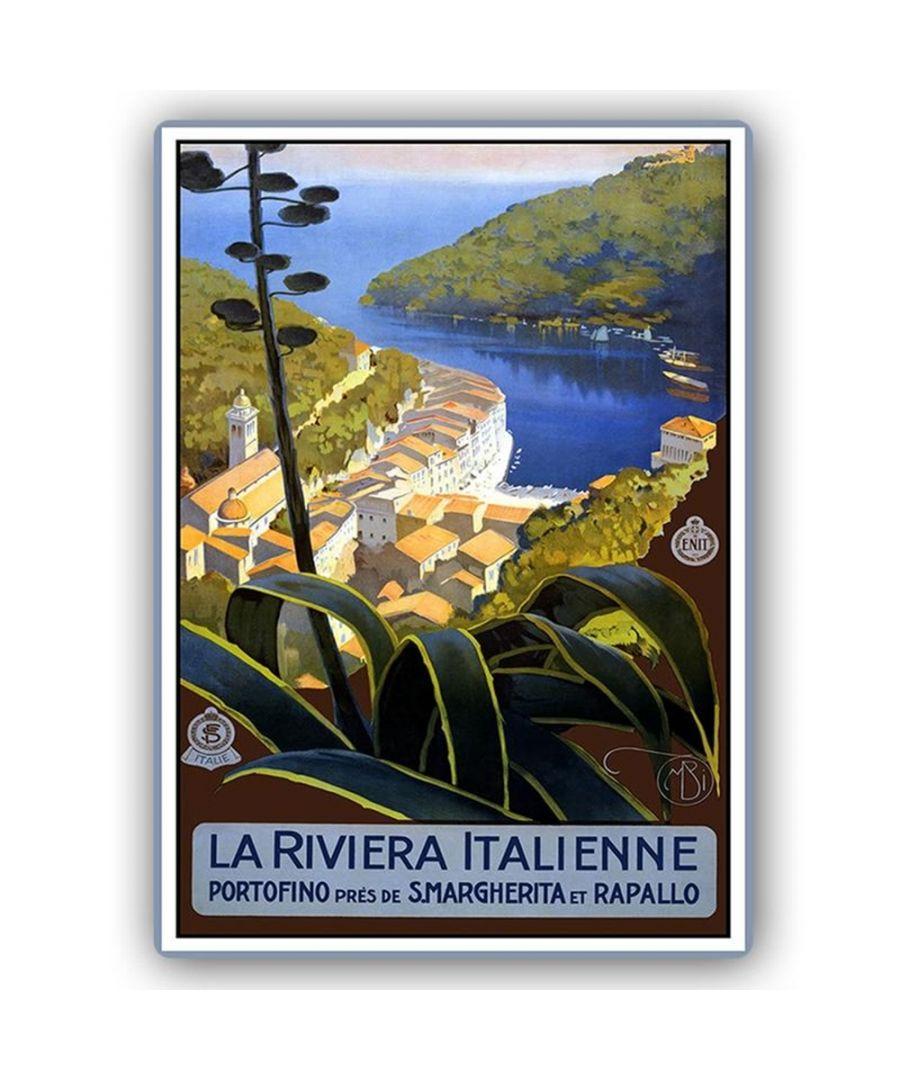 Image for Vintage Tourist Poster - Metal Print  - La Riviera Italienne