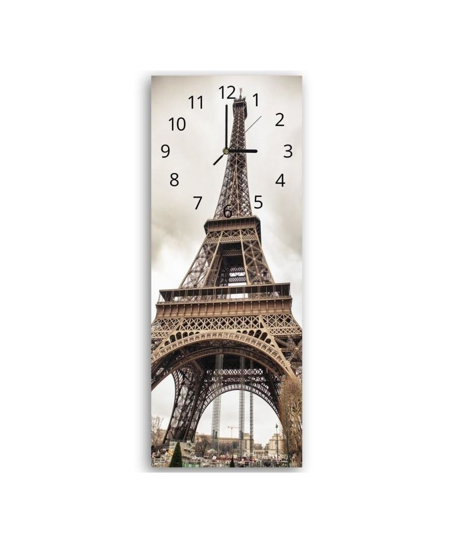 Image for Wall Clock - The Eiffel Tower Cm. 30x90