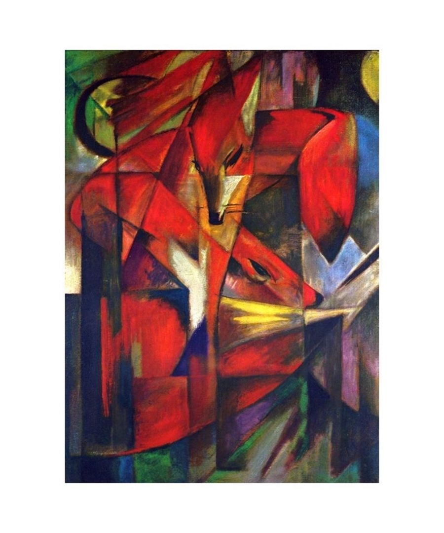 Image for Canvas Print - The Fox - Franz Marc Cm. 60x80