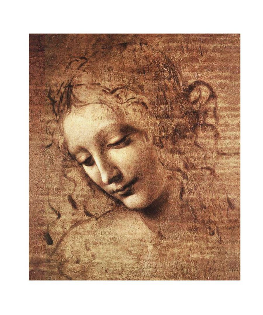Image for Canvas Print - The Lady Of The Dishevelled Hair - Leonardo Da Vinci