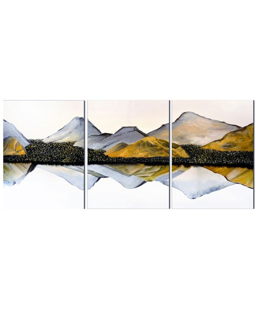 Image for Canvas Print - Mountain Lake Cm. 180x80 (3 Panels)