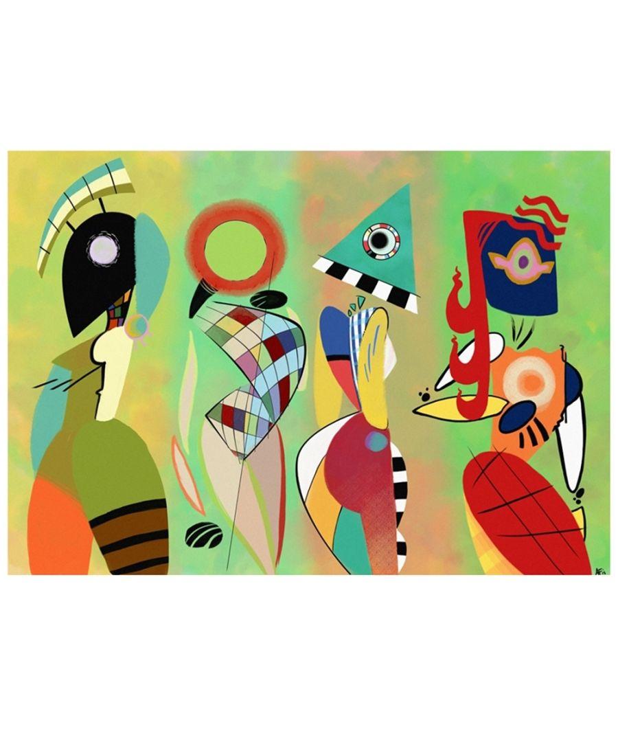 Image for Canvas Print - Las Musas De Kandinsky By Aria Feliciano Cm. 50x70