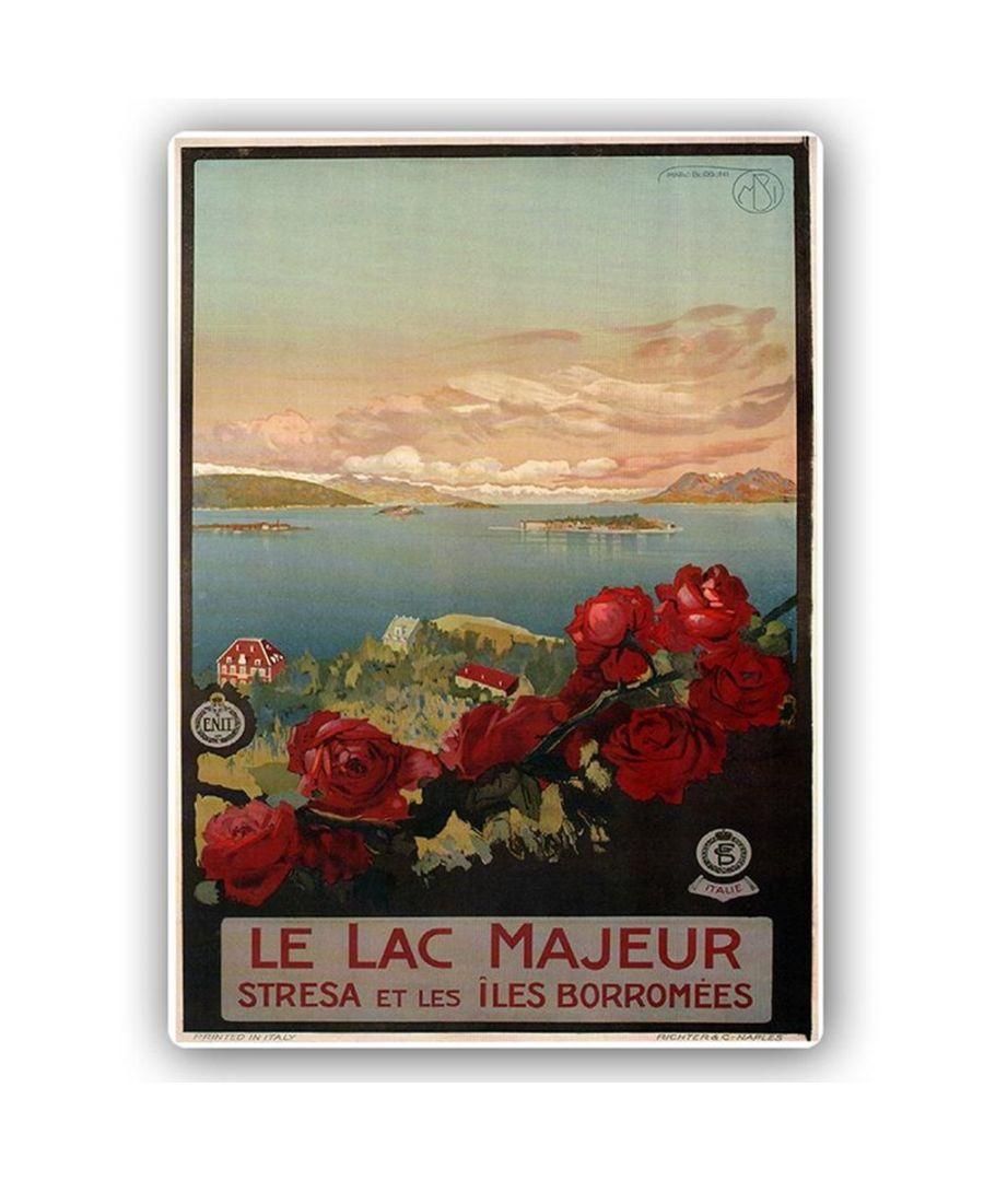 Image for Vintage Tourist Poster - Metal Print  - Le Lac Majeur