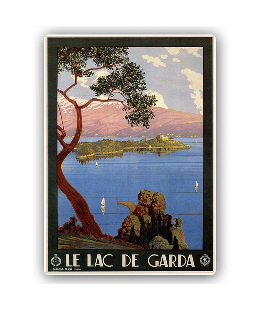 Image for Vintage Tourist Poster - Metal Print  - Le Lac De Garda