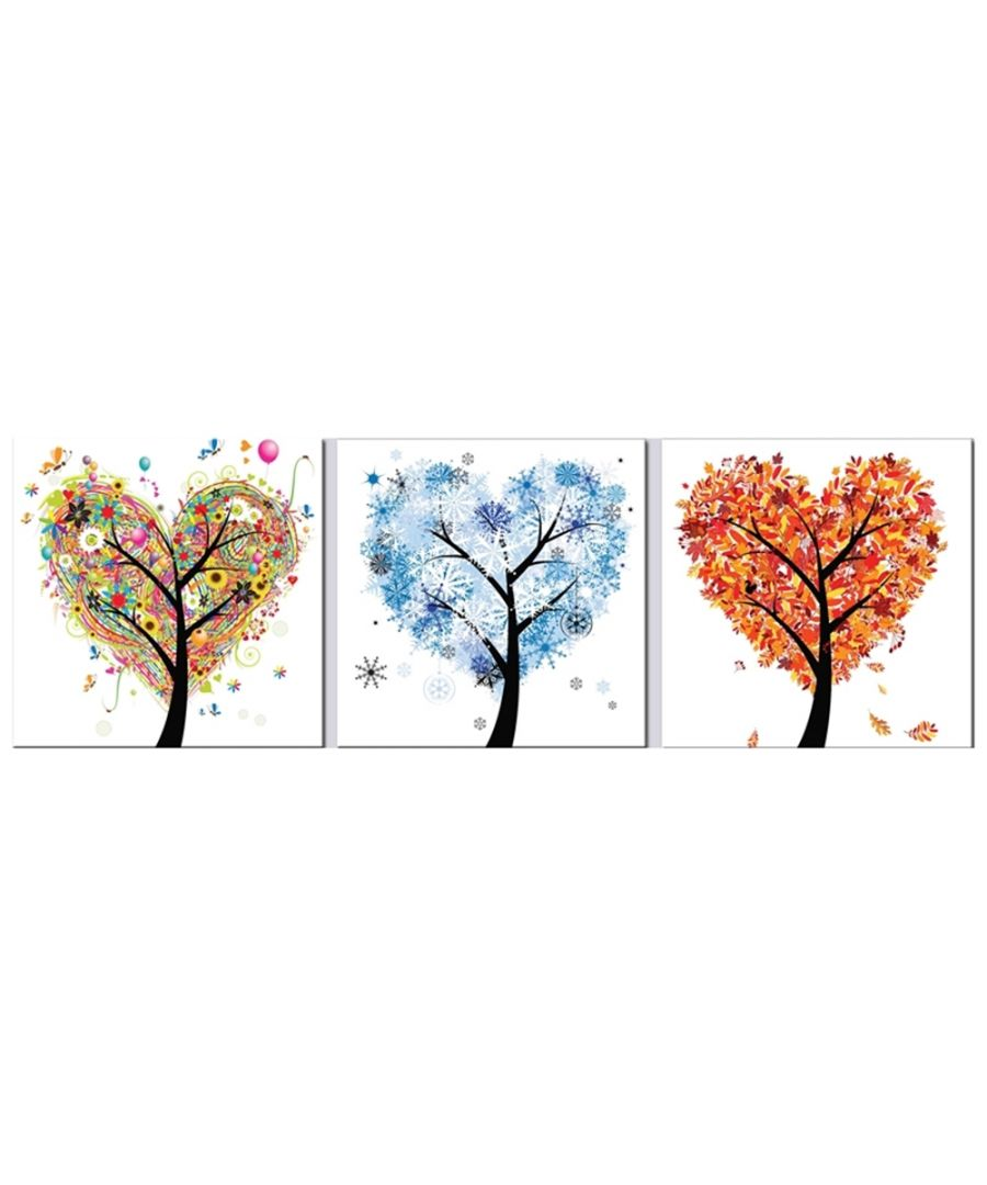 Image for Canvas Print - Seasons Of The Heart Cm. 150x50 (3 Panels)