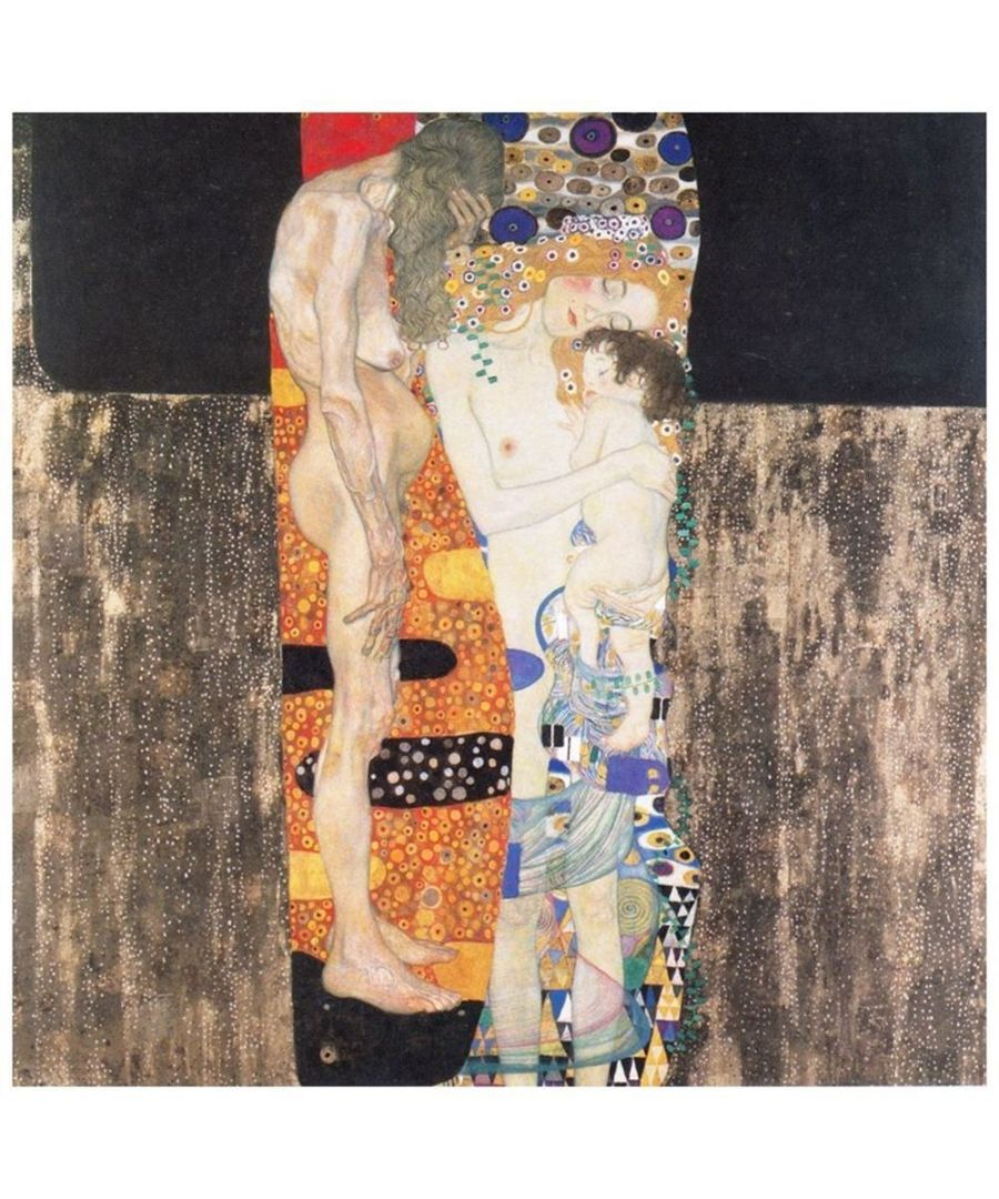 Image for Canvas Print - The Three Ages Of Woman - Gustav Klimt Cm. 60x60