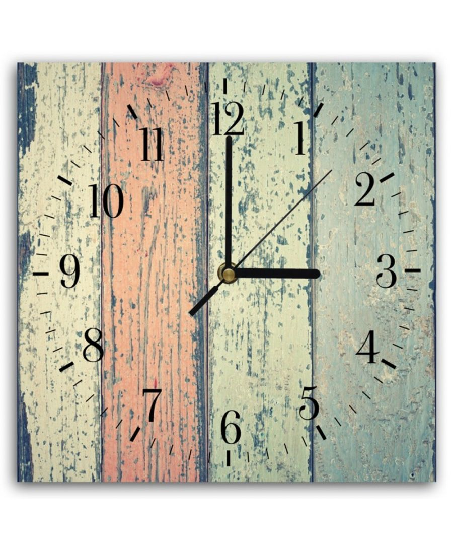 Image for Wall Clock - Coloured Wood Cm. 30x30