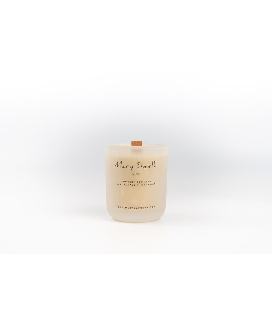 Image for Coconut Oil Infused Luxury Beeswax Candle - Lemongrass & Bergamot