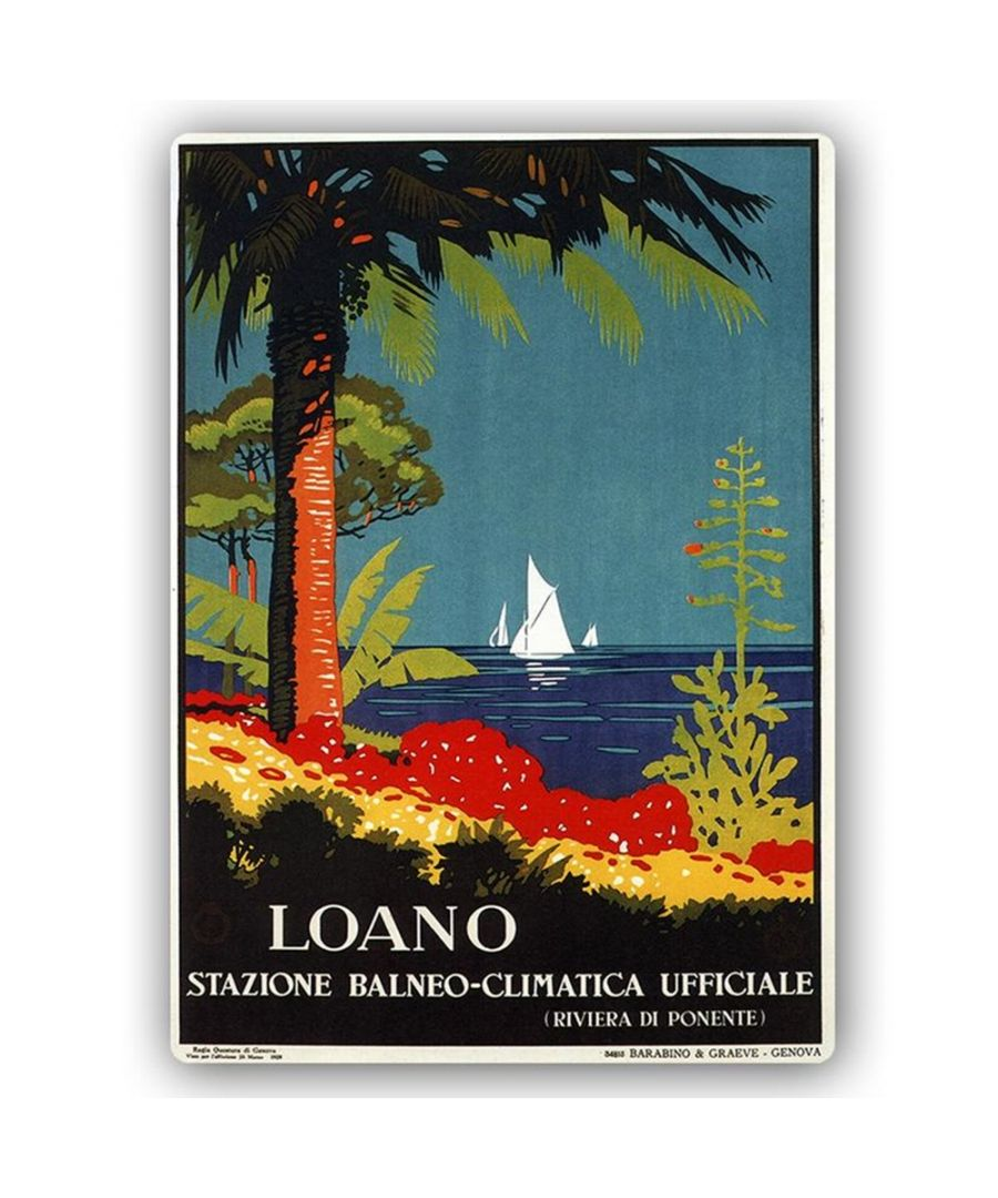 Image for Vintage Tourist Poster - Metal Print  - Loano